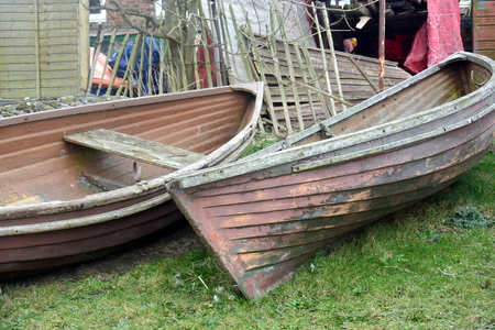 tatty: Old Boats by The Lake Stock Photo