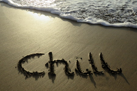 chill: Chill Written in the Sand