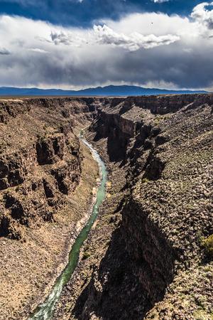 grande: Rio Grande Gorge, near Taos, New Mexico Stock Photo