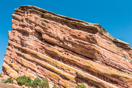 denver colorado: Red Rocks Amphitheatre, Denver, Colorado Stock Photo