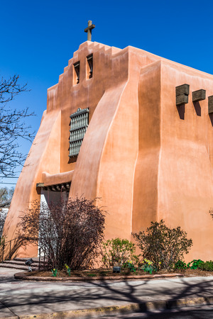 european culture: Oldest protestant church in New Mexico, 1867 Stock Photo
