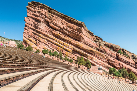 denver colorado: Red Rock Amphitheatre, Denver, Colorado Stock Photo