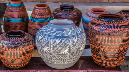 pottery: Native American pottery, Santa Fe, New Mexico