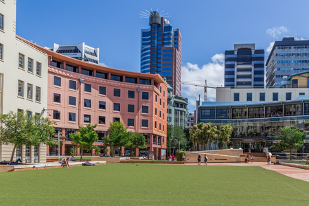 nz: Wellington, New Zealand, February 13 2016 - Civic Square, Wellington, NZ Editorial