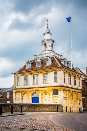 Kings Lynn, Norfolk, UK, June 16, 2016: Old custom house, designed by Henry Bell, and built in 1683. It opened as a merchants' exchange in 1685. Used as the Town's Custom House from the early 1700s. Editorial