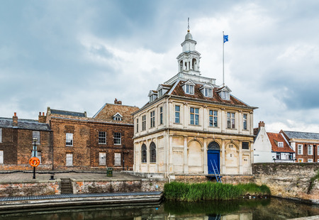 Kings Lynn, Norfolk, UK, June 16, 2016: Designed by Henry Bell and built in 1683, it opened as a merchants' exchange in 1685. Used as the Town's Custom House from the early 1700s.