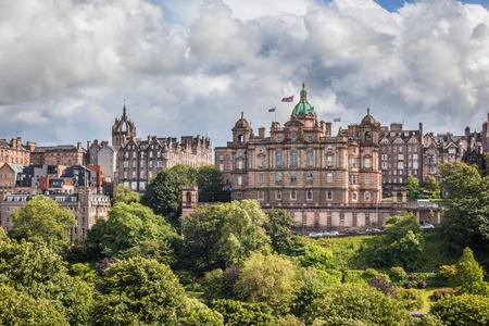 Edinburgh, Scotland, UK, July 1 2016: Bank of Scotland building on The Mound, Edinburgh, dating from 1801.