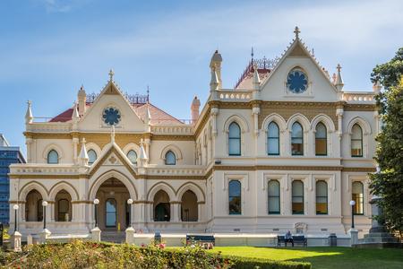 Wellington, New Zealand, March 16, 2017: The Parliamentary Library in Wellington, NZ Editöryel