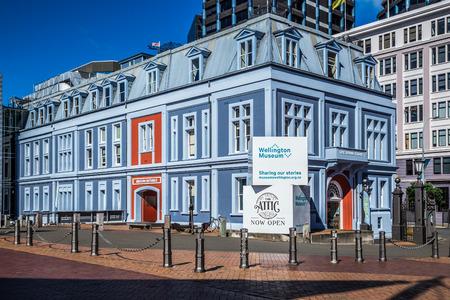 Wellington, New Zealand, March 17, 2017: Exterior of Wellington Museum. Editöryel