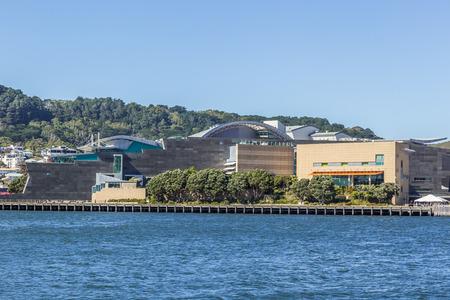 Wellington, New Zealand, March 17, 2017: View of Te Papa Museum, across Lambton Harbour.