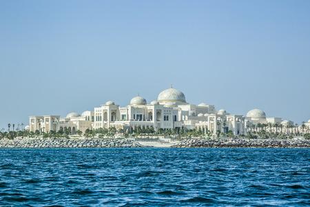 Abu Dhabi, United Arab Emirates, May 5, 2017: The Presidential Palace in Abu Dhabi.