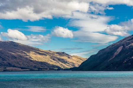 View across the waters of Lake Wakatipu, South Island, New Zealand