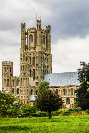 Portrait view of Ely Cathedral taken from Cherry Hill Park