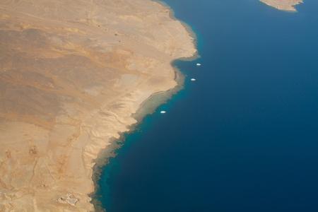 barrier island: Coastline  Sinai  Red sea Stock Photo