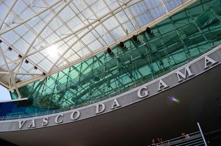Vasco Da Gama shopping center with a glass roof  Lisbon  Portugal Stock Photo - 12943355