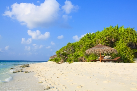 Tropical beach white sand Stock Photo