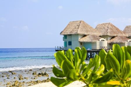 Tropical water bungalow Foto de archivo