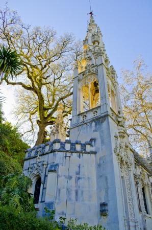 Quinta da Regaleira chapel tower at Sintra, Portugal