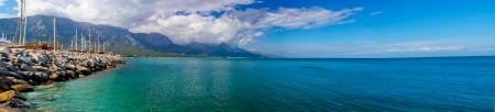 positano: Mediterranean sea