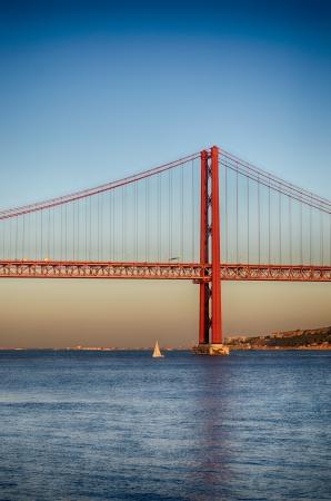 The 25 de Abril Bridge. Lisbon. Portugal