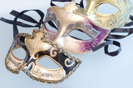 Carnival Venetian masks with shining glow of stars