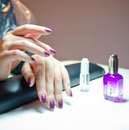 Beautiful violet manicure