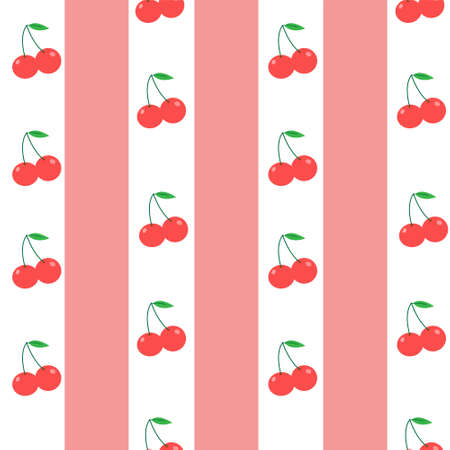 Illustration Vector Graphic of Cherry Pink Pattern Background
