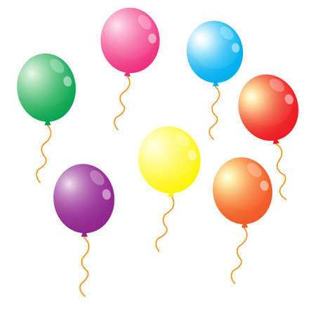 Illustration Vector Graphic of Colorful Balloon. Perfect for Birthday
