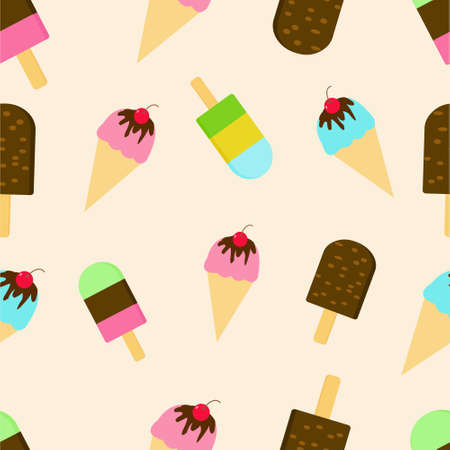 Illustration Vector Graphic of Ice Cream Seamless Pattern