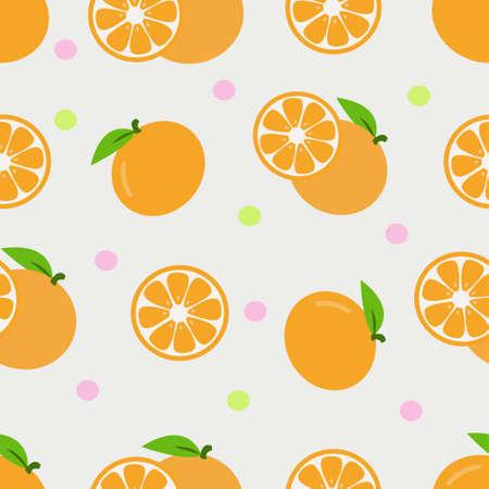 Illustration Vector Graphic of Orange Fruit Seamless Pattern