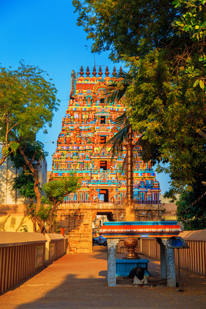 Temple of Sri Ranganathaswamy in Trichy, Tamil Nadu state, South India. Stock Photo