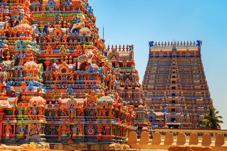 Temple of Sri Ranganathaswamy in Trichy, Tamil Nadu state, South India. Stock fotó