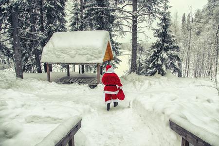 The daily life of Santa Claus. Home of Santa Claus at the North Pole. Stock fotó