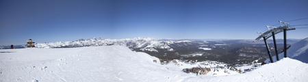 high sierra: Panorama of the top of Mammoth Mountain in California
