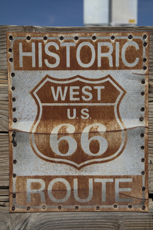route 66: Route 66 sign Stock Photo