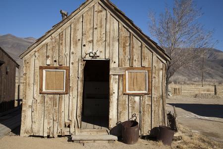 high sierra: Wooden derelict miners cabin