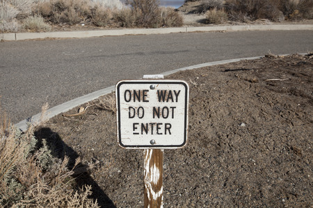 one way sign: Do not enter one way sign