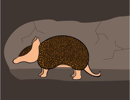 burrow: Armadillo in a Burrow Illustration
