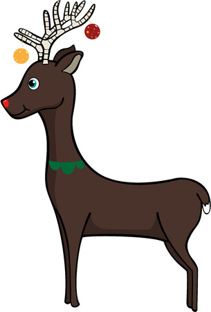 rudolf: Deer decorated for Christmas