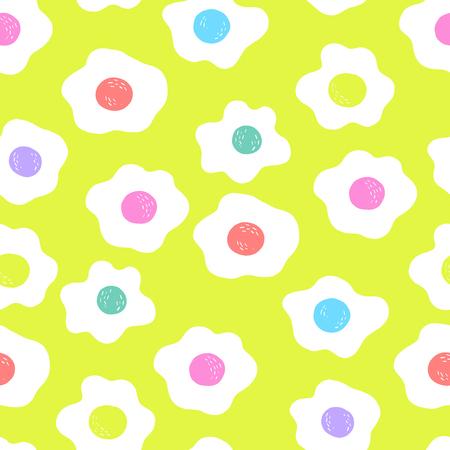Trendy Bright Egg Seamless Pattern 向量圖像