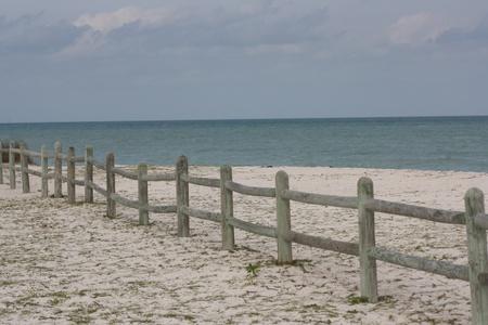 fence near the sea