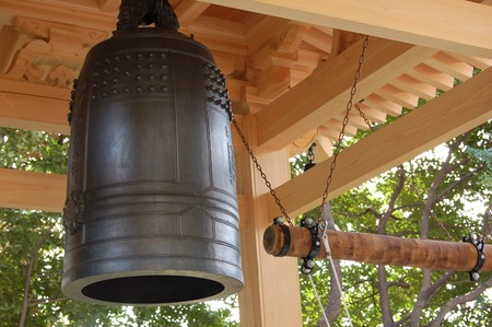 gong: Japanese Temple Gong Stock Photo