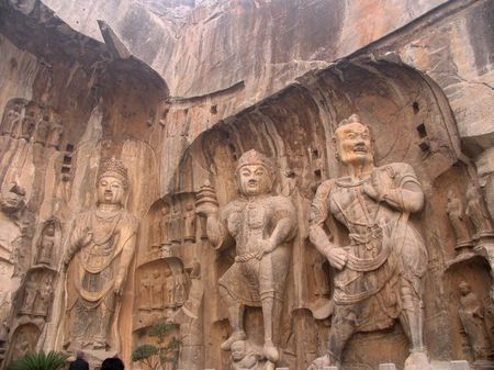 hundreds and thousands: The Longmen Grottoes in Luoyang was cutted in the year when Wei Emperor Xiaowen go to Luoyang (AD 494 years), until the Northern Song Dynasty, more than hundreds of thousands of the existing statue of Buddha, over 2300 grottoes.