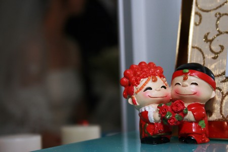 A Chinese traditional wedding toys.