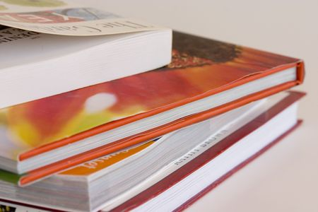Pila de libros  Foto de archivo - 1756206