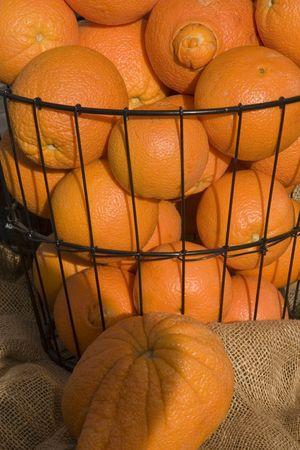 sunday market: Oranges closeup Stock Photo