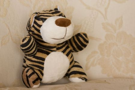 cuddly: A cuddly tiger pup soft toy Stock Photo