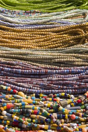 Ethnic bead necklaces from the African continent photo