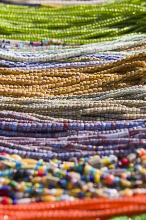 multi-color ethnic bead necklaces photo