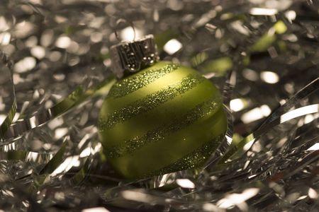 asher: Mustard green Xmas light ornament